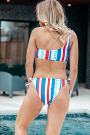 In The Sunlight Multi Color Striped Bikini Bottoms