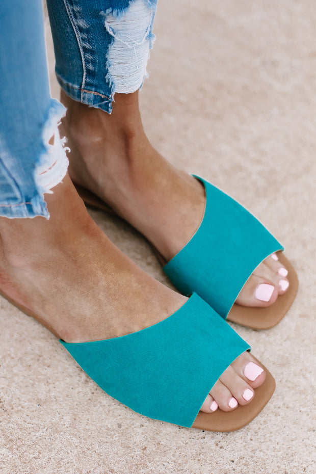 Dempsey Teal One Band Sandal