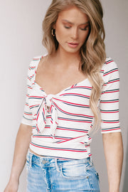 Hang Around Ivory Striped Top