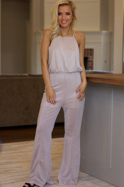 3f074b7f45fe Never Looking Back Pink Champagne Jumpsuit – Stella Rae s
