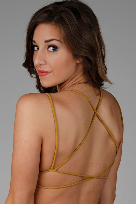 Crossing Limits Mustard Bralette