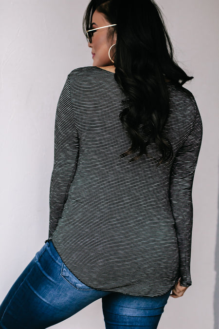Down The Road Charcoal Fleece Lined Leggings