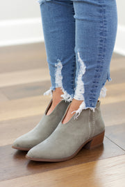 Rager V Cut Bootie in Khaki