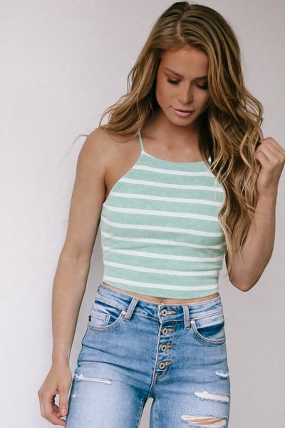 Downtown Girl White Ruffle Tank Top