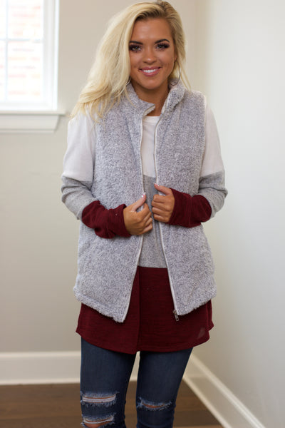 New Start Silver Two Tone Fur Vest