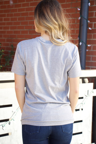 """I Am Freaking Merry"" Grey Short Sleeve Tee"