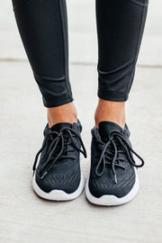 Pamier Black Fly Knit Sneaker