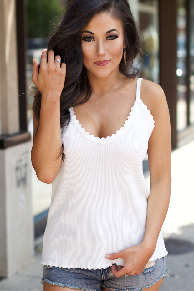 Right Way White Tank Top