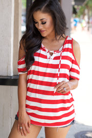 Love Thing Red Stripe Top