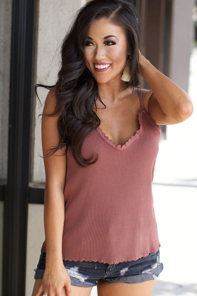 Right Way Mauve Tank Top
