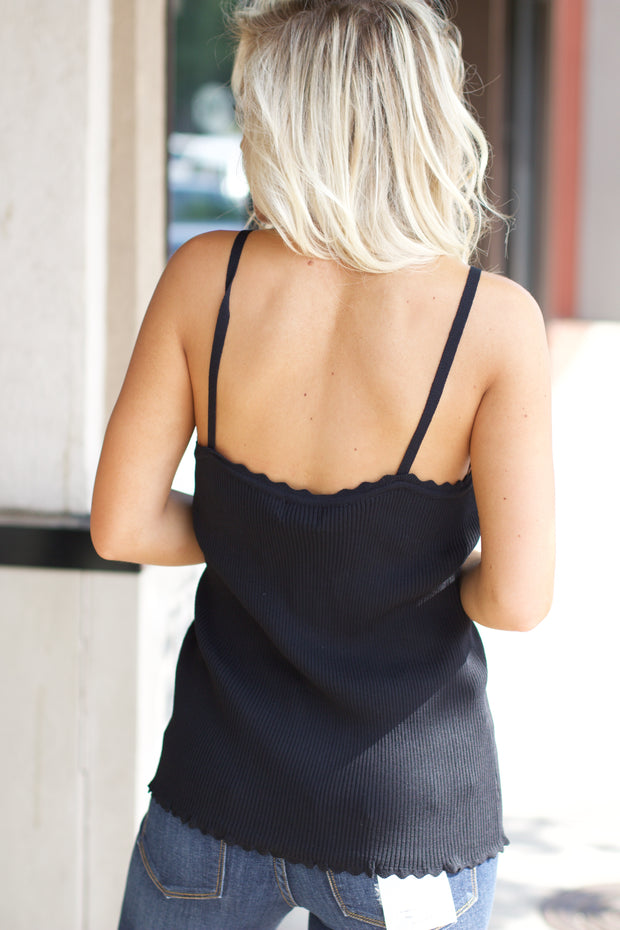 Right Way Black Tank Top