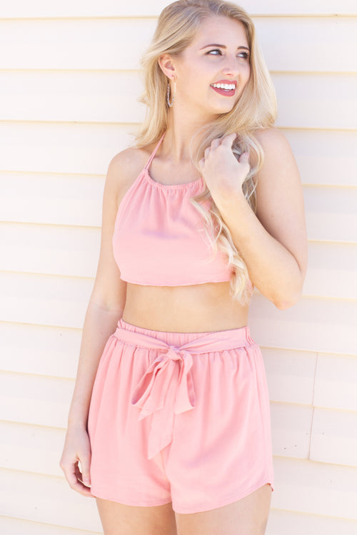 5d5bcc14793973 Finding Happiness Blush Tie Crop Top