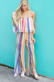Eyes On Me Multi Color Striped Pants
