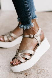 Grind Light Gold Pharaoh Snake Platform Sandal