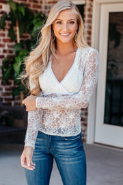 My Kind Of Chic White Lace Top