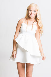 Sweet Talk Ivory Ruffle Dress