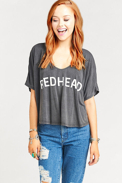 Show Me Your MuMu Billy Bob Chop Top ~ Redhead Graphic