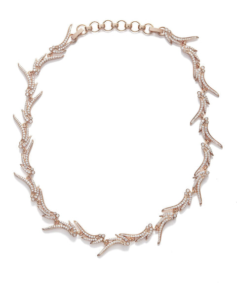 Kendra Scott Cleo Collar Necklace In Rose Gold