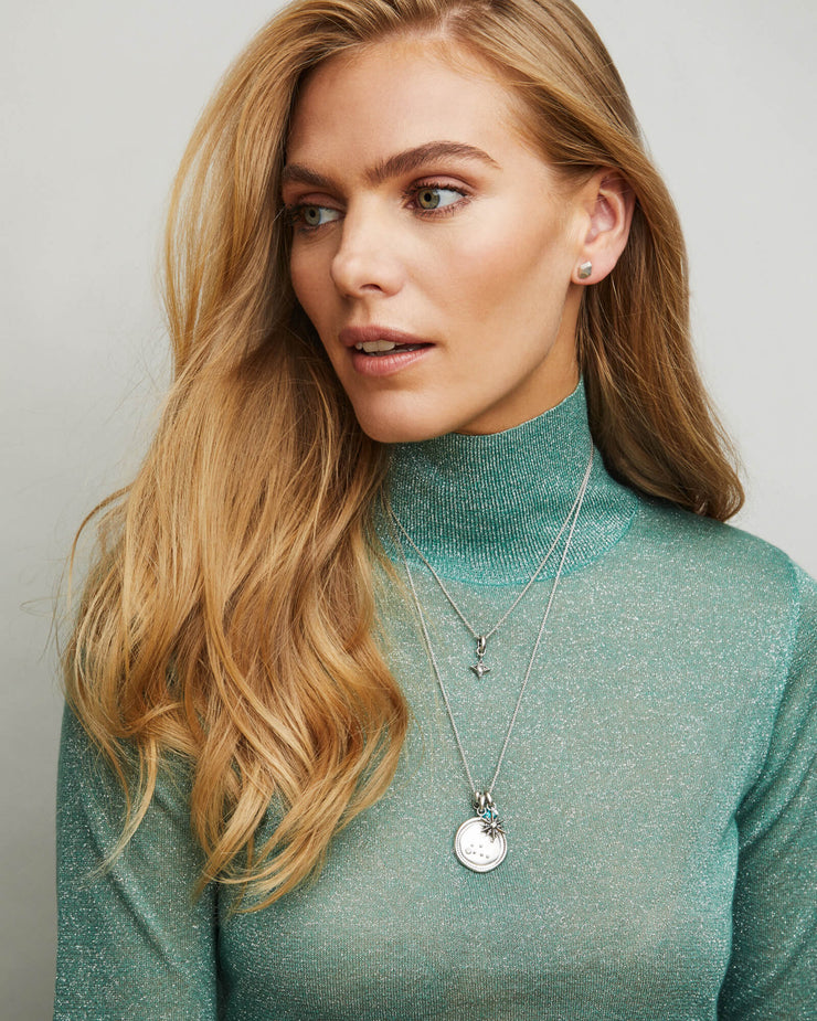 Kendra Scott Aries Silver Coin Necklace- FINAL SALE