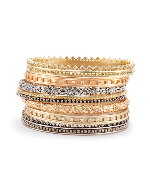 Kendra Scott Evie Bangle Bracelets in Mixed Metals