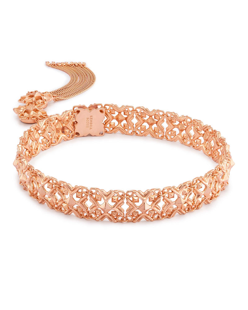 Kendra Scott Heidi Choker Necklace In Rose Gold- FINAL SALE