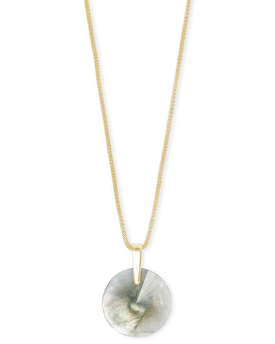 Kendra Scott Jolie Gold Long Pendant Necklace In Gray Illusion- FINAL SALE