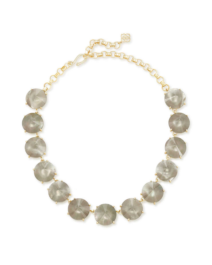Kendra Scott Jolie Gold Statement Necklace In Gray Illusion- FINAL SALE