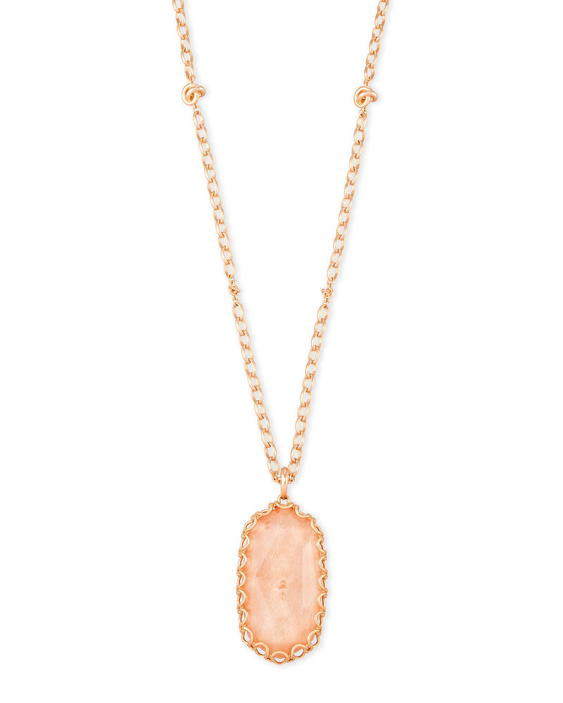 Kendra Scott Macrame Reid Rose Statement Necklace In Blush Wood