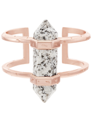 Kendra Scott Shelli Cuff Bracelet In Gray Granite