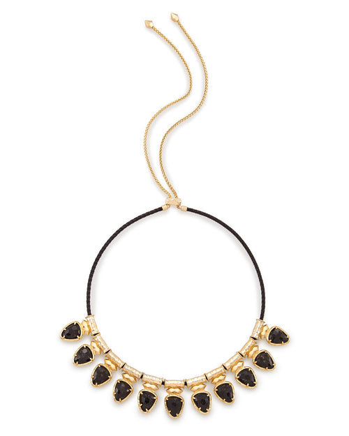 Kendra Scott Willow Choker Necklace In Black Granite