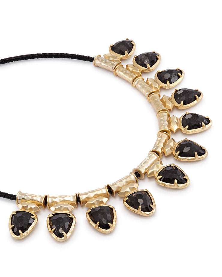 Kendra Scott Willow Choker Necklace In Black Granite- FINAL SALE