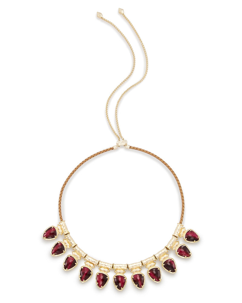 Kendra Scott Willow Choker Necklace In Bordeaux Tiger's Eye- FINAL SALE