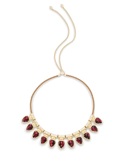 Kendra Scott Willow Choker Necklace In Bordeaux Tiger's Eye
