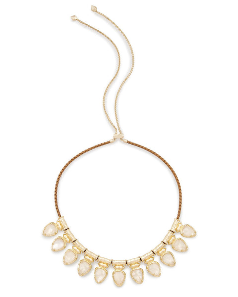 Kendra Scott Willow Choker Necklace In Crystal Ivory Illusion