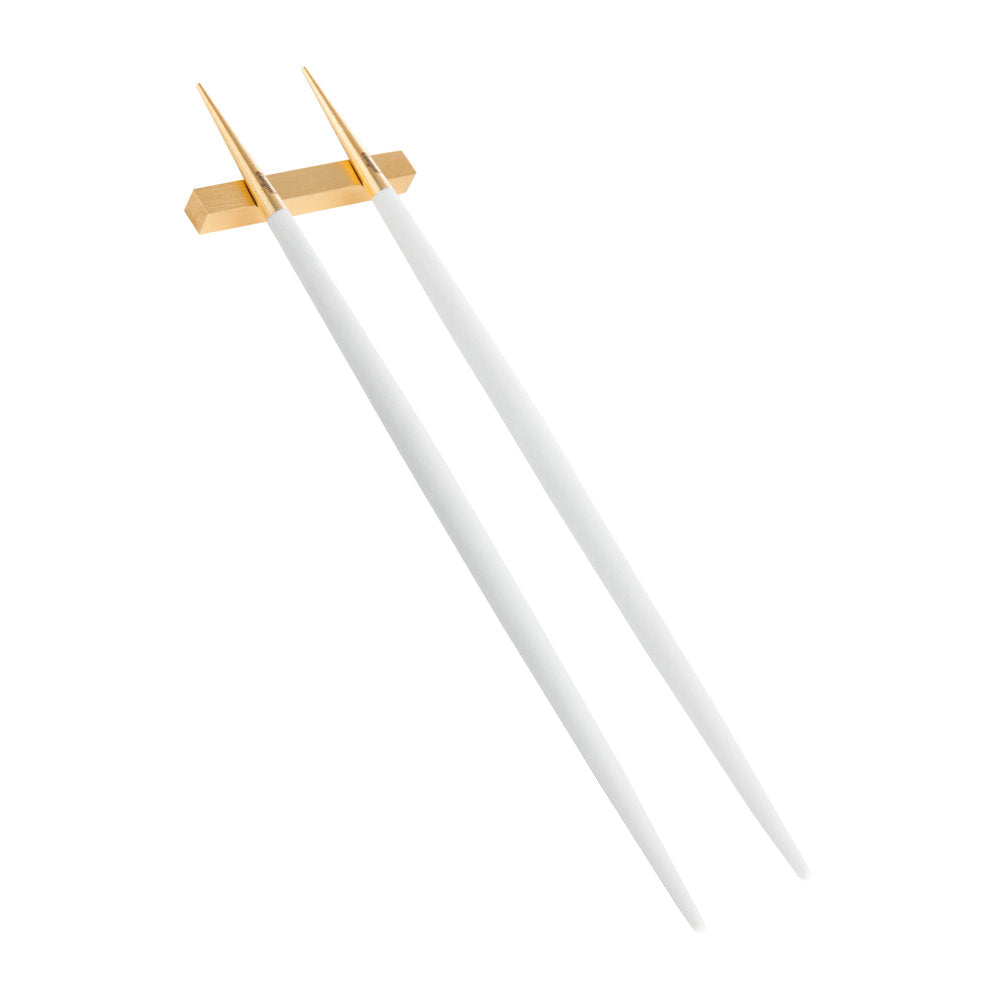 Goa White & Matte Gold Chopstick (Set of 6)