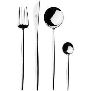 Moon Silver Flatware Set (24 Pieces)