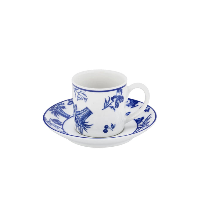 Chintz Azul Coffee Cup & Saucer, Set of 4