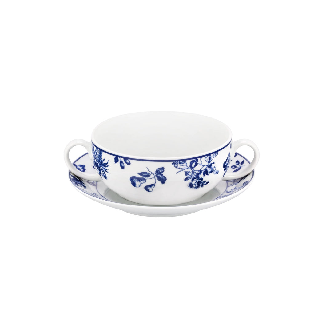Chintz Azul Consomme Cup & Saucer, Set of 2