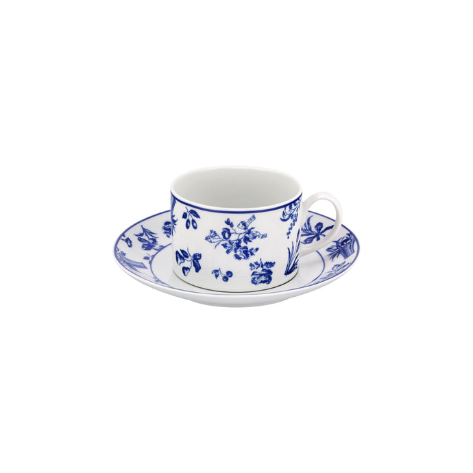 Chintz Azul Tea Cup & Saucer, Set of 4
