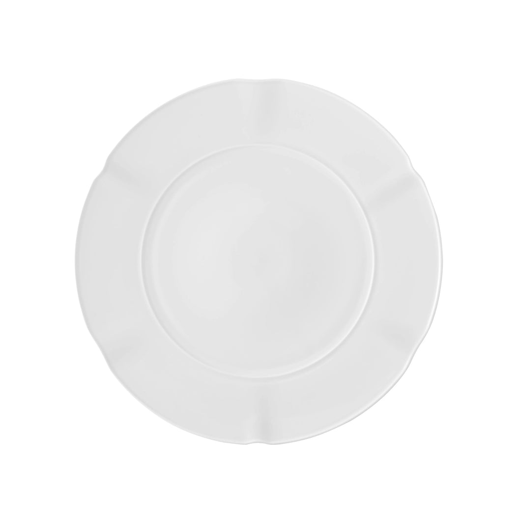 Crown White Charger Plate, Set of 2