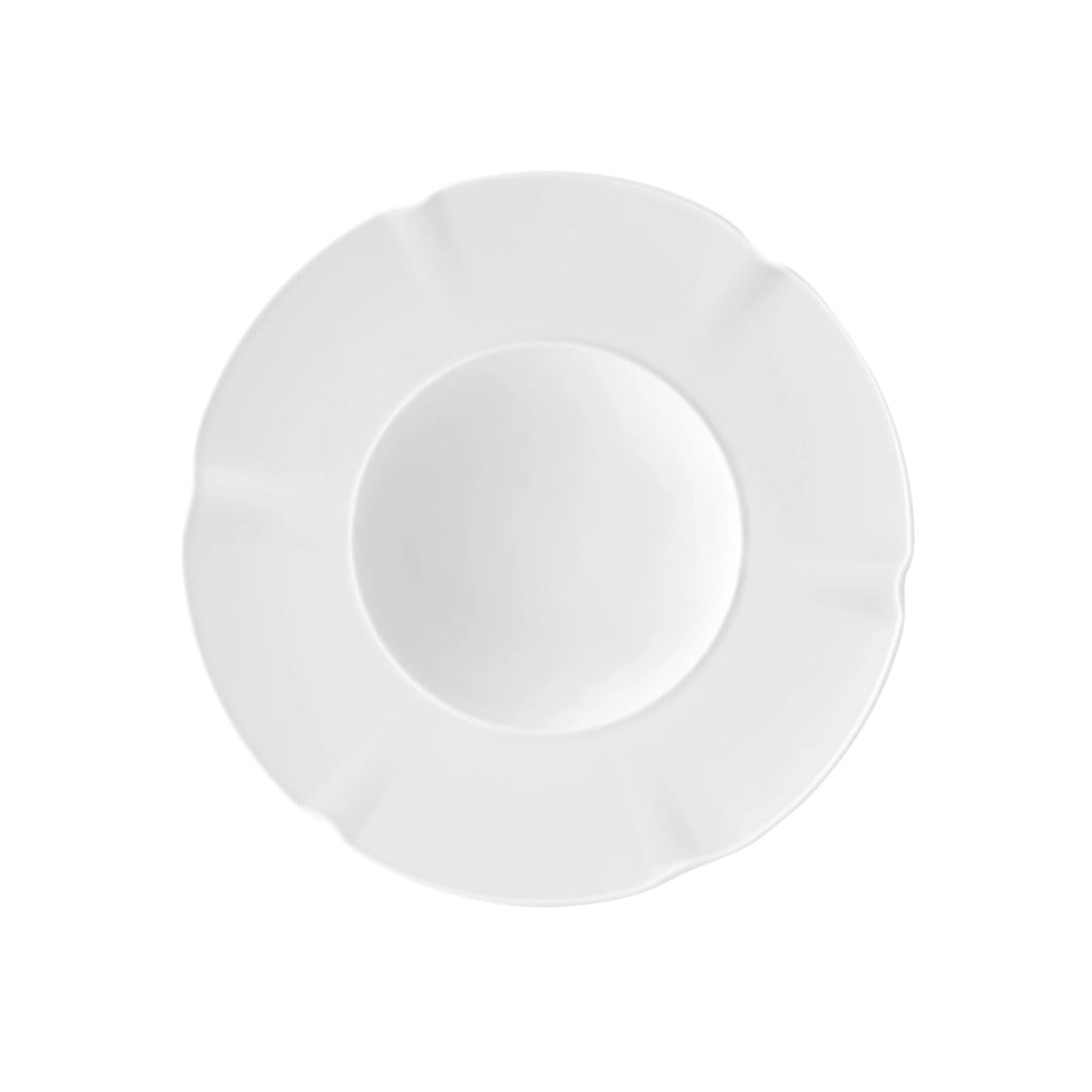 Crown White Soup Plate, Set of 4
