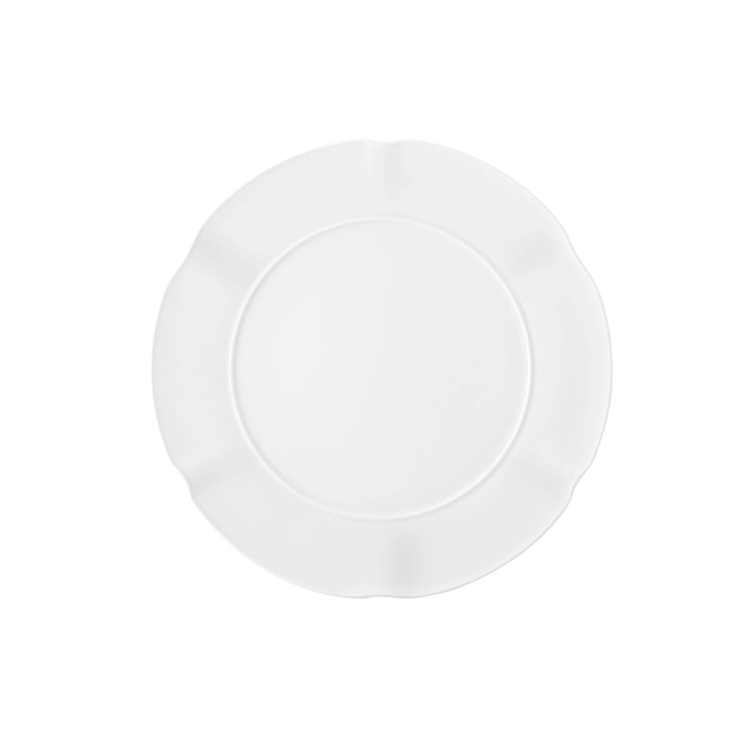 Crown White Dessert Plate, Set of 4