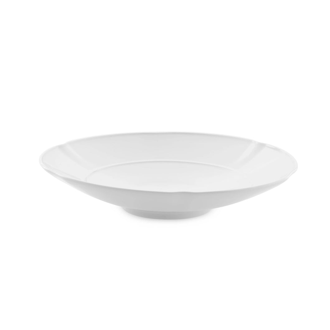 Crown White Pasta Plate, Set of 4