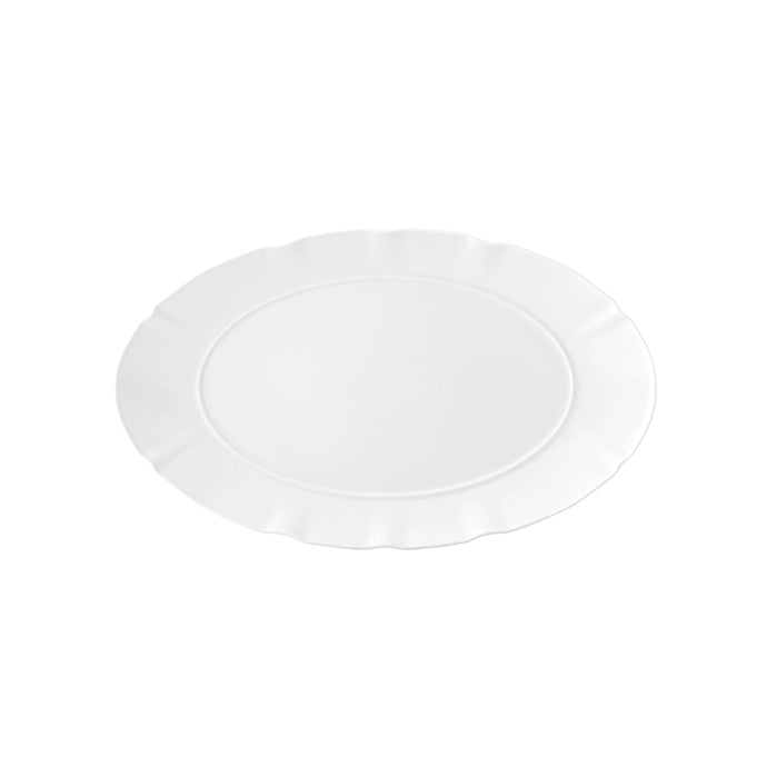 Crown White Oval Platter