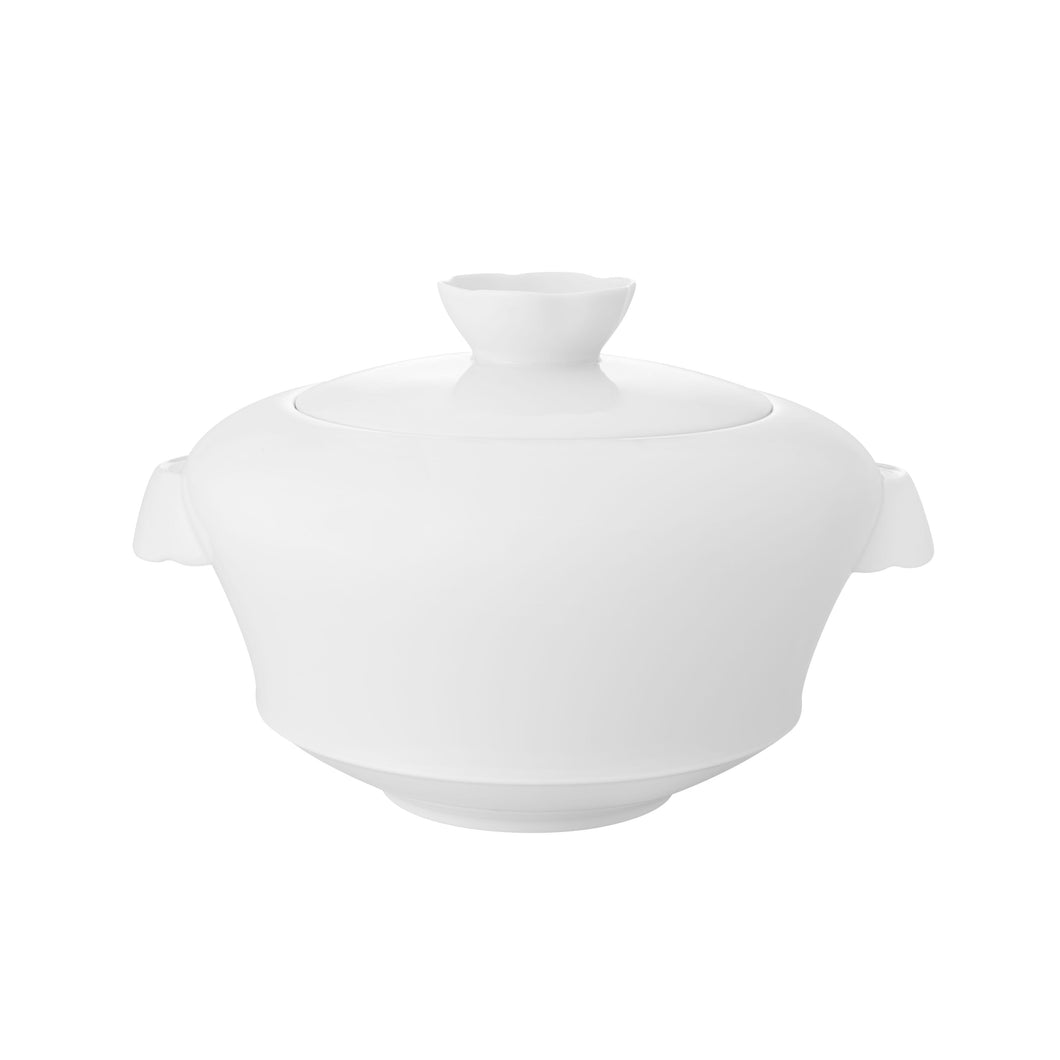Crown White Tureen