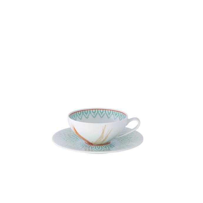 Fiji Tea Cup & Saucer, Set of 4
