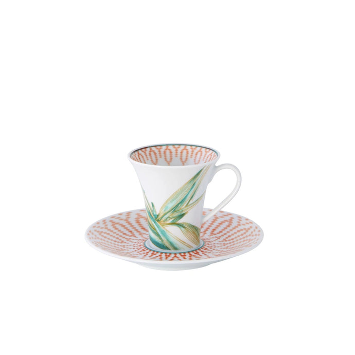 Fiji Coffee Cup & Saucer, Set of 4