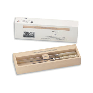 White Lucite Carving Set