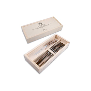 Ox Horn Plenum Steak Knife Set, 6 Knives