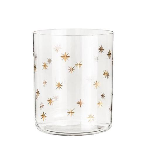 Zodiac Cylindrical Crystal Glass